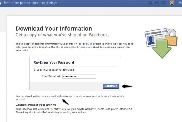 Як зберегти на своєму комп'ютері все, що ви викладали у Facebook