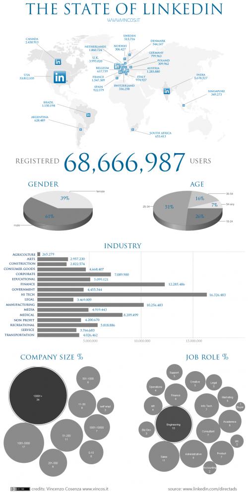 Країна під назвою LinkedIn (інфографіка)