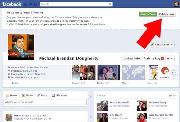 Facebook примусово переведе всіх користувачів на Timeline