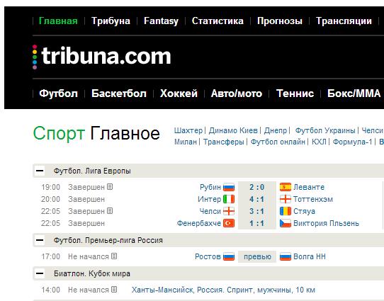 Sports.ru відкрив українську версію