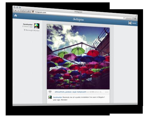 Instagram запустив доступ до стрічки новин через веб версію