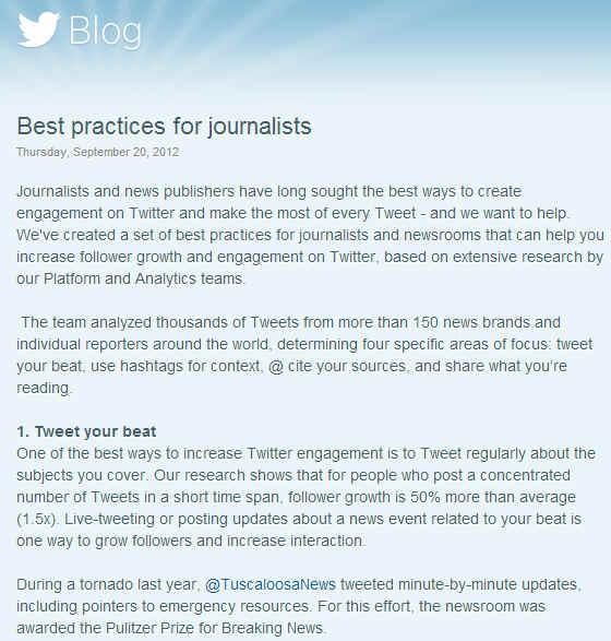 Поради для журналістів від керівництва Twitter