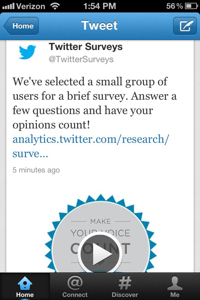 Twitter запускає рекламні опитування