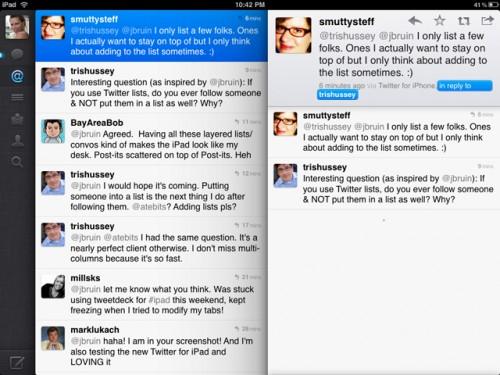Вийшов Twitter для iPad