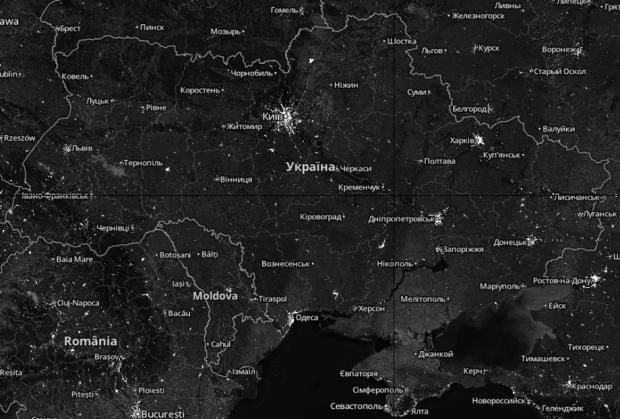 Супутникова карта чекінів Foursquare
