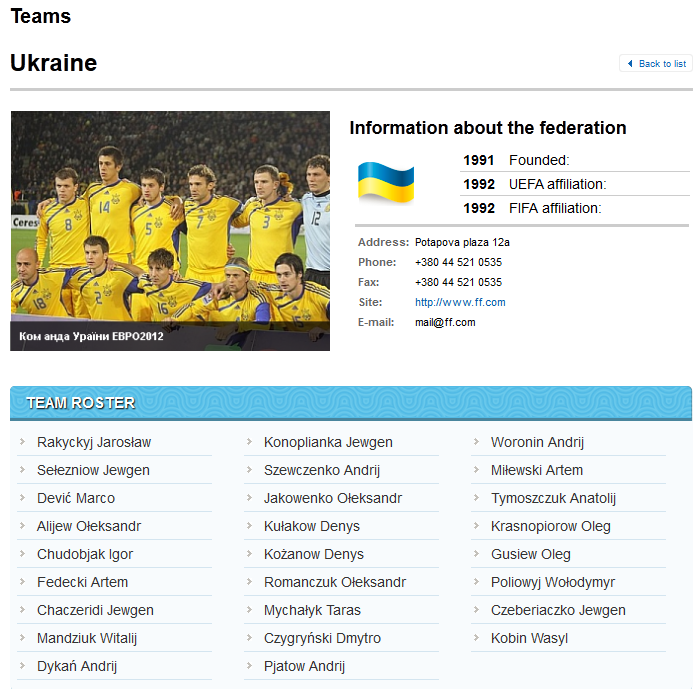 Sbornaya Ukraine on football represents Ukraine at mezhdunarodnыh of Football tournament and tovaryscheskyh meetings