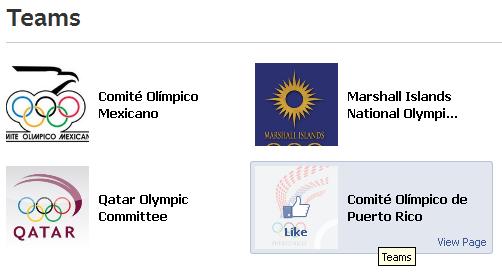 Facebook запустив сторінку, присвячену олімпіаді в Лондоні