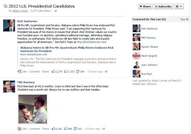 Facebook запустить тематичні списки цікавих людей і сторінок