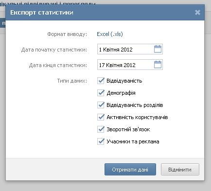 ВКонтакті дозволив завантажувати статистику публічних сторінок