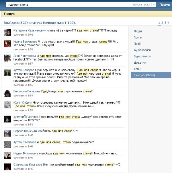 Чергова хвиля фейсбукіїзації Вконтакте: увімкнено мікроблоги