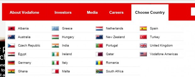 Vodafone запустила офіційний сайт в Україні