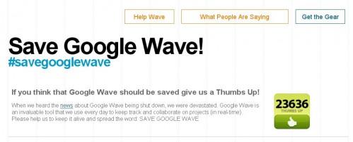 Прихильники Google Wave розпочали рух за порятунок сервісу