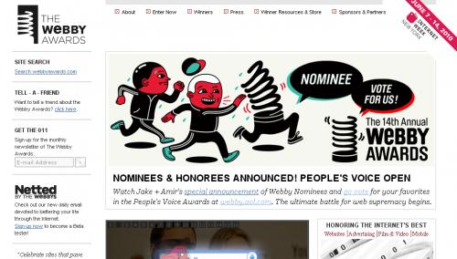 Оголошено список номінантів премії Webby Awards