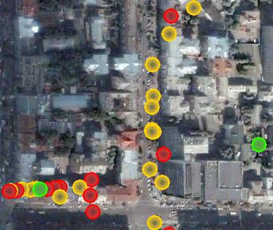 Карта розташування WiFi точок доступу в Києві