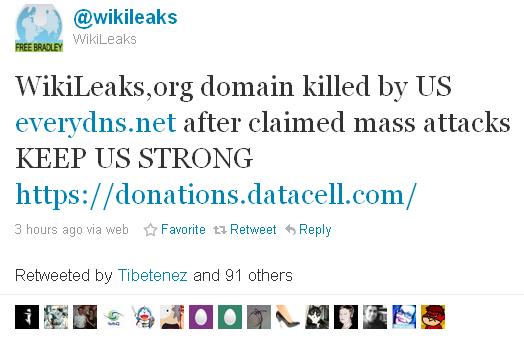 Сайт Wikileaks закрили? (оновлено)