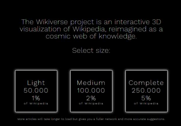 Вікіпедію зобразили у вигляді інформаційного всесвіту