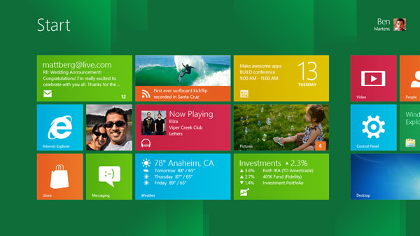 Microsoft показала Windows 8
