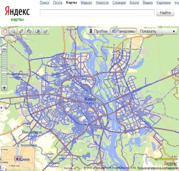 Яндекс зняв для панорам нові вулиці Києва та міста супутники
