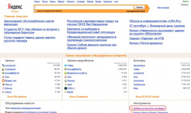 Яндекс закрив рейтинг блогерів