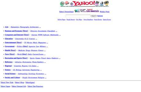 Як виглядали 20 популярних сайтів під час їхнього запуску