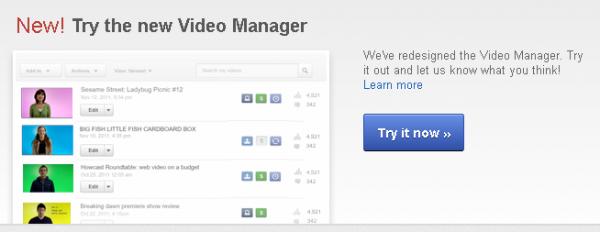YouTube запустив новий Video Manager