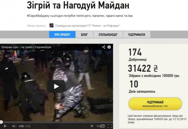 Менше, ніж за добу в інтернеті зібрали на #Євромайдан 32 тис грн